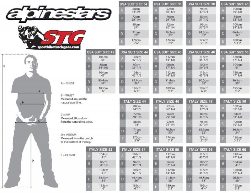 Alpinestars Carver 2 Piece 58 Size Leather Suit Riding Gear