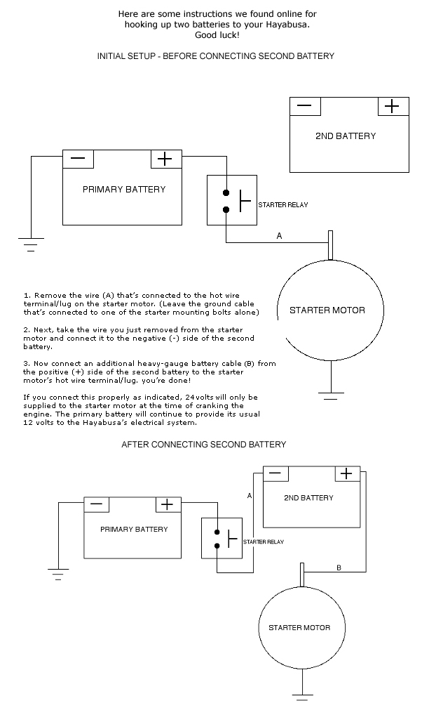 24 volt starting system busa mods hayabusa owners group rh hayabusa org 24 Volt System Schematic JD 4020 24 Volt Wiring Diagram