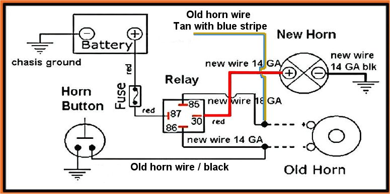 universal horn on wiring diagram electrical wiring diagrams