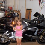 My Daughter Posing With The Busa
