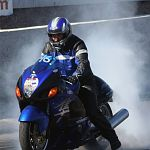 Black Blue Busa Burnout