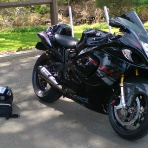 Busa + sunshine + ride gear = good day